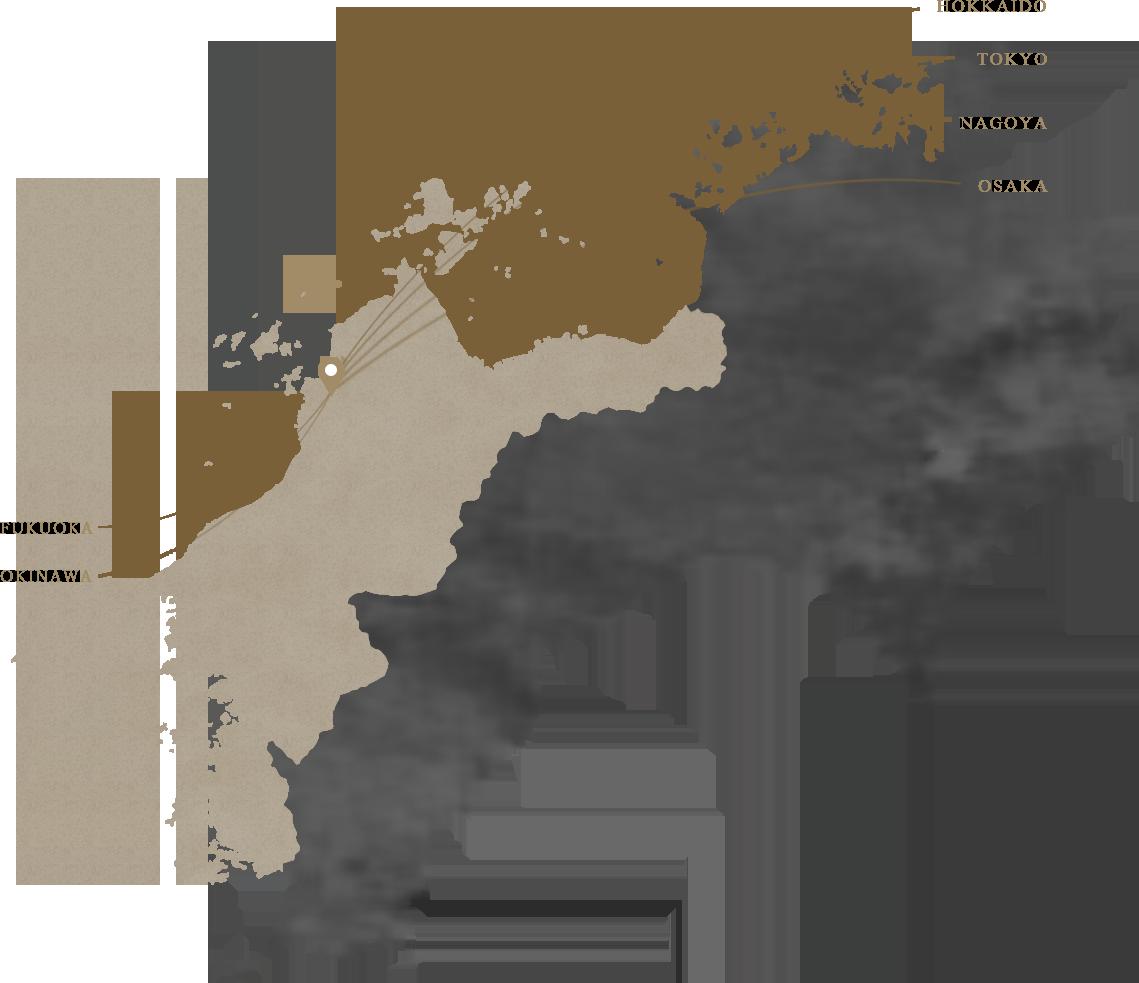 各地空港よりのアクセスイメージ