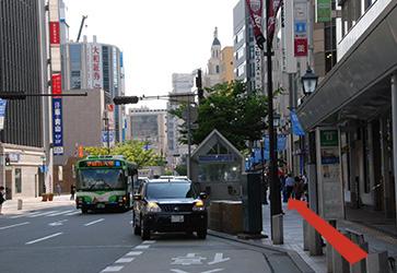 商店街を直進(約100m)のイメージ