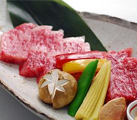 【料理重視】神戸ビーフ×鮑付きの創作会席料理コース